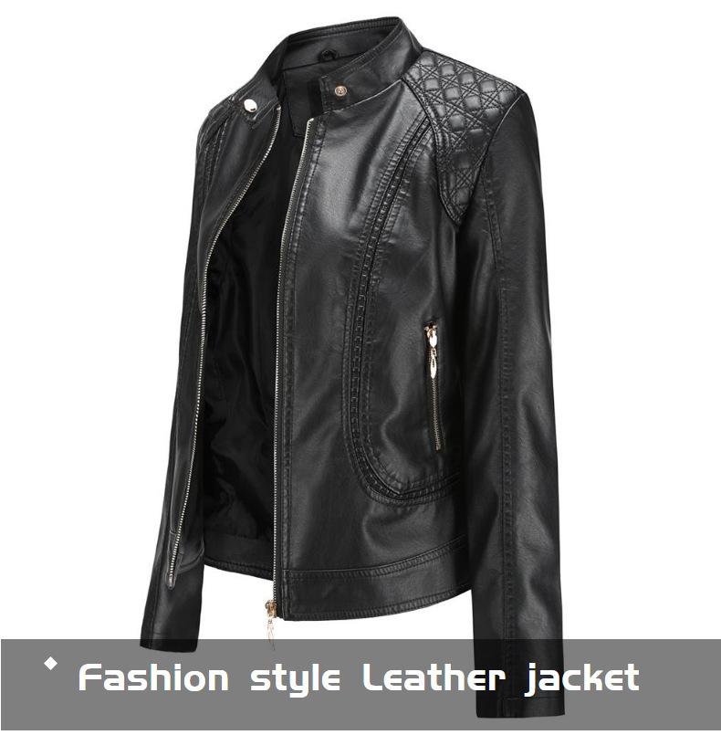 Женская Байкерская кожаная куртка бомбер черная красная коричневая