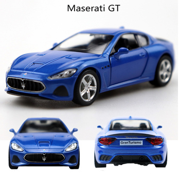 1:36 Maserati GT Alloy Pull Back Car Model Diecast Metal Toy Vehicles 2 Open-doors For Kids Gift Free Shipping 1 36 benz e63 amg alloy pull back car model diecast metal toy vehicles 2 open doors for kids gift free shipping