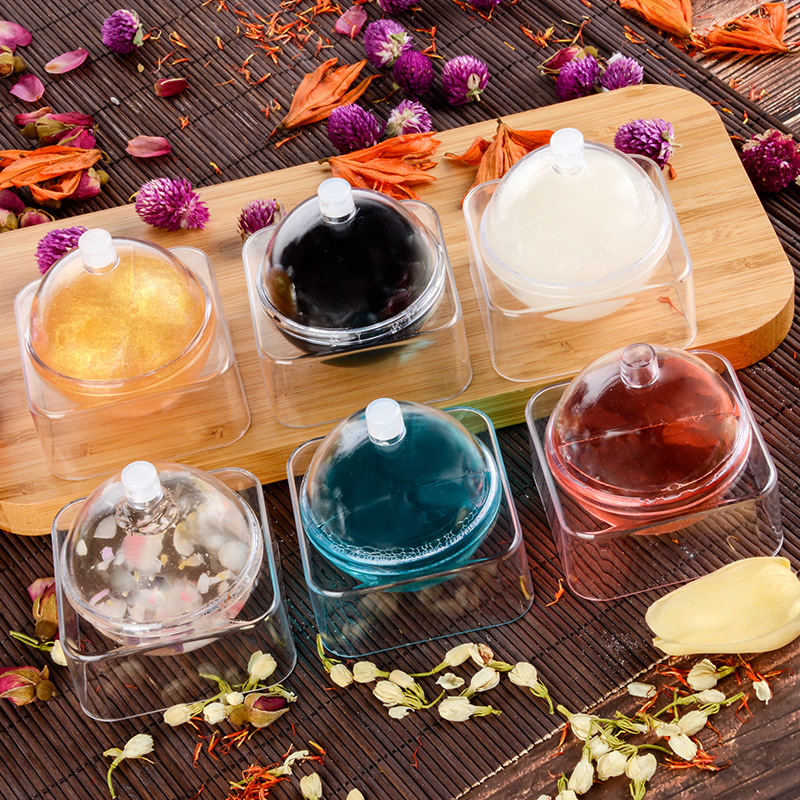 1pcs Jelly Handmade Soap Amino Australian Dragon Ball Cleansing Ball Soap Rose Avocado Face Care Wash Basis Soap Bath Supplies