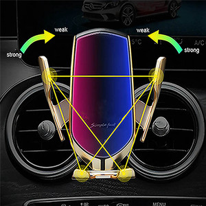 Image 5 - Auto sensing Draadloze Oplader Telefoon Houder Clip voor Benz C Klasse GLA CLA GLC GLE GLS E  klasse Auto Air Vent Universal Telefoon Stand