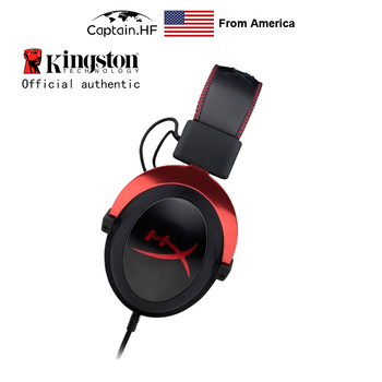 Hyper x Cloud II Professional Gaming Headset With Mic for Laptop and PC Wired Earphone Virtual 7.1 Surround Sound Game Headphone zapet g9000 surround sound version game gaming headphone usb 3 5mm aux pc headset earphone headband with microphone led light