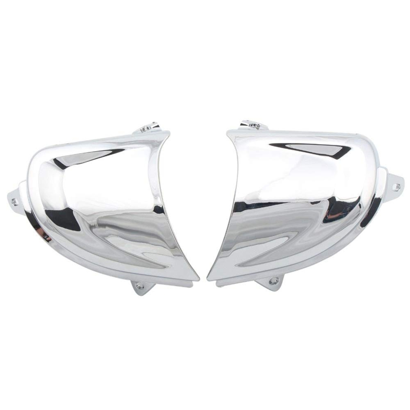 Motorcycle Chrome Front Headlight Covers Trims Decorations For Honda Goldwing Gold Wing Gl1800 2001-2011 (Pack 2)