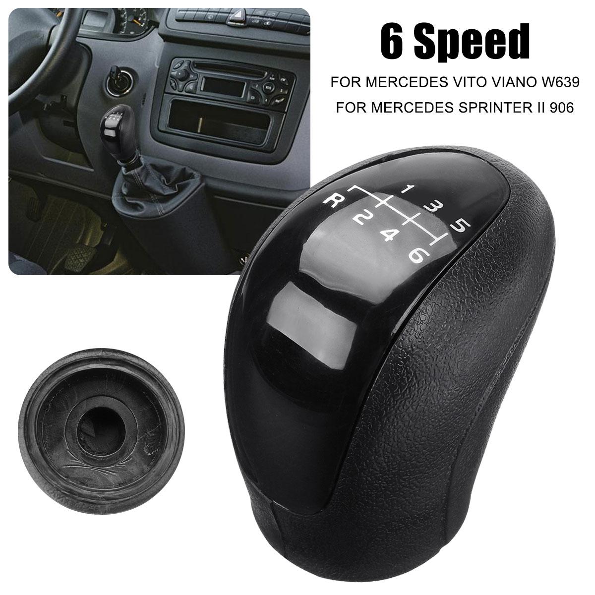 6 מהירות רכב Gear Shift Knob ראש כיסוי שיפטר מנוף מקל עבור מרצדס ויטו ויאנו אצן השני/פולקסווגן- בעל מלאכה