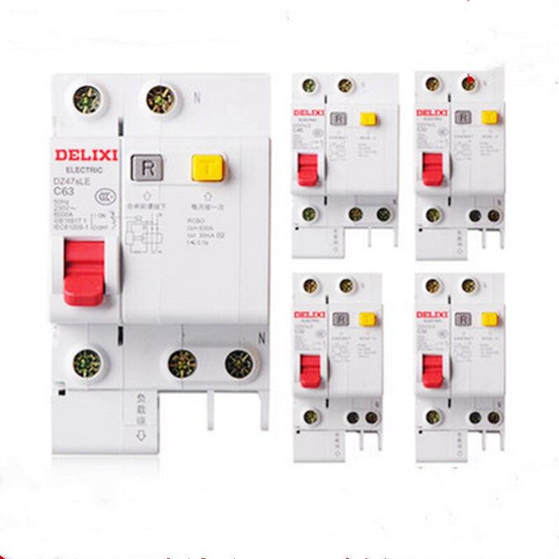 Leakage protection breaker DPNL 1P+N16A 20A 25A 32A 230V circuit breaker 1 Residual Current 1pcs DZ47sle
