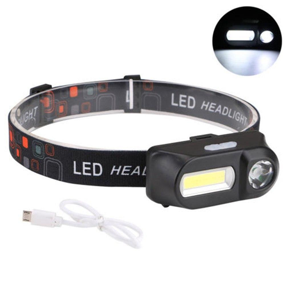 Multi-Function Usb Interface Charging Head Light Cob Outdoor Emergency Head-Mounted Flashlight Camping Fishing Headlights