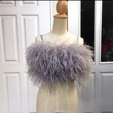 Feathers Tops Shirt  Short Women Tops Blouse Casual Custom Made Women Top топ женский