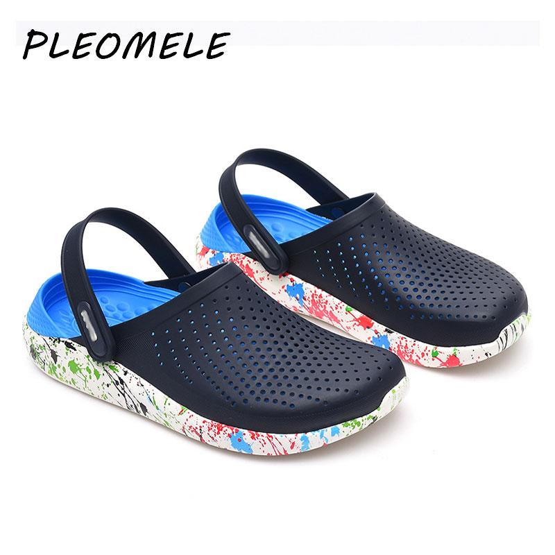 2020 sandalias de Hombre Crocks LiteRide Hole Shoes Crok Rubber zuecos para hombres EVA Unisex zapatos de jardín negro Crocse Adulto Cholas Hombre
