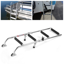 Stainless Steel 4 Step Folding Double Step Ladder Telescopic Boat Ladder Pontoon Folding Ladder New Arrivals