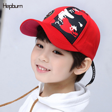Hepburn Brand Spring Children Baseball Cap Boy Girls Camouflage Five-star pattern Casquette Snapback Sun Kid Hats 3-9 years old fashion five pointed star shape embroidery camouflage pattern baseball cap for men