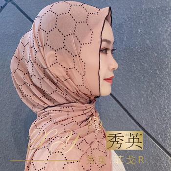 Letnia islamska muzułmańska chusta na głowę tanie hidżaby dla dziewczynek tanie i dobre opinie SORRYNAM Szalik hijabs Poliester Dla dorosłych Diamenty Suknem T177 Moda