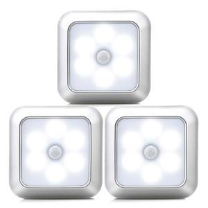 Image 1 - Nieuwe 6Leds Infrarood Pir Motion Sensor Onder Kast Licht Draadloze Detector Wandlamp Auto On/Off Kast Keuken slaapkamer Verlichting