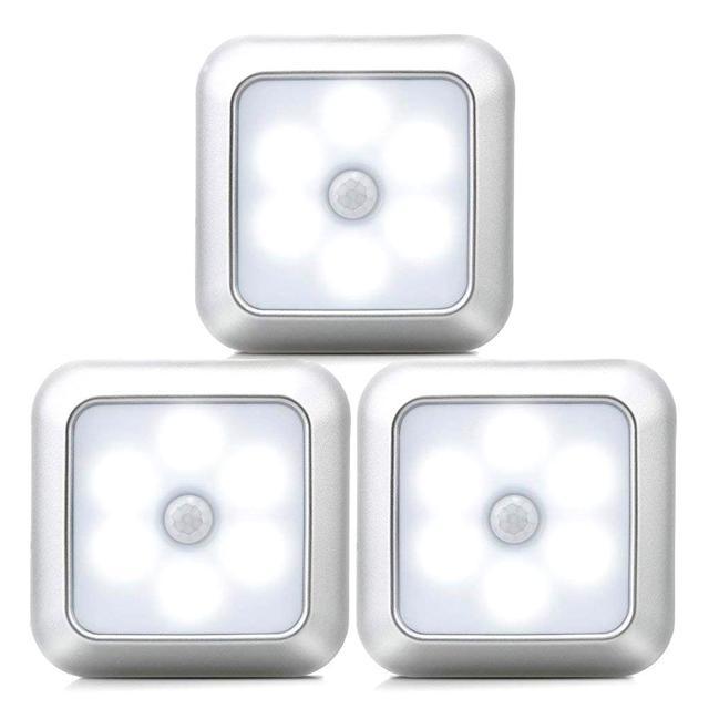 Nieuwe 6Leds Infrarood Pir Motion Sensor Onder Kast Licht Draadloze Detector Wandlamp Auto On/Off Kast Keuken slaapkamer Verlichting