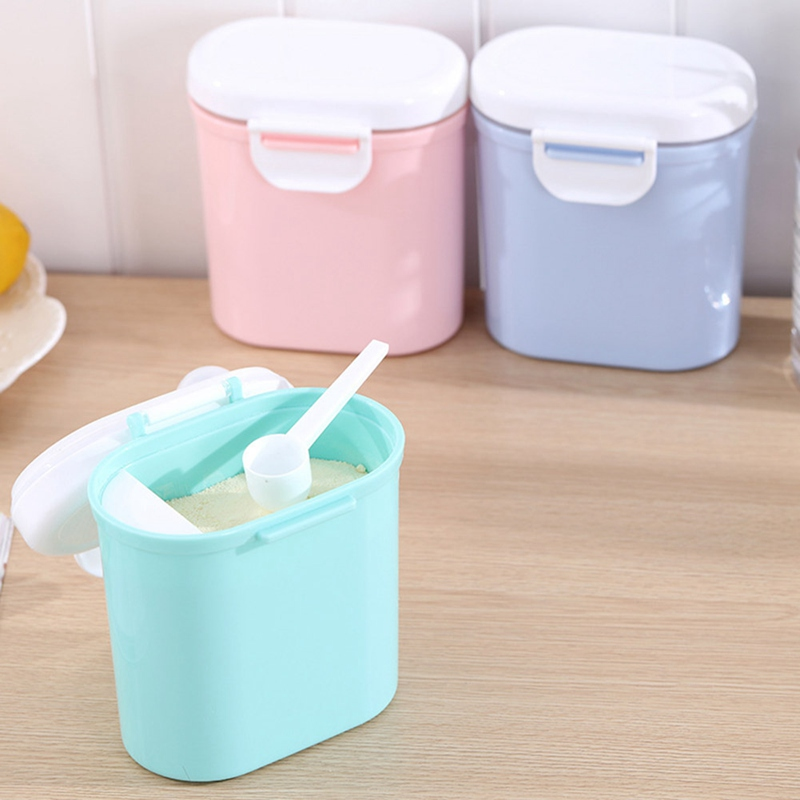 High Capacity Baby Milk Powder Container Portable Baby Food Storage Box 2 Sizes Infants Feeding Box For Newborn