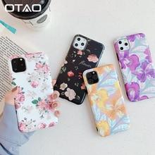 OTAO Rose Flower Leaf Case For iPhone 11