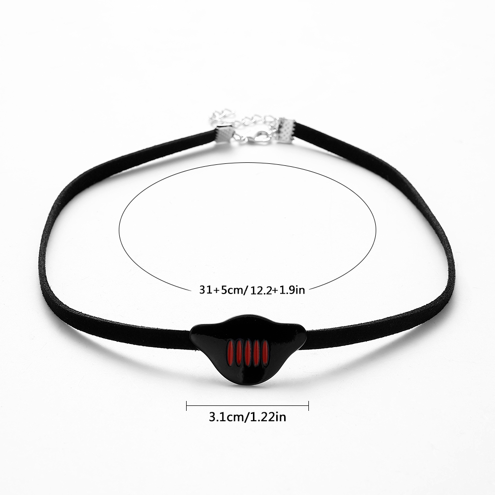 Hanreshe Ladybuy Dragon Girl Necklace Rope Pendant Party Fashion Jewelry Best Friend Cute Children Comic Black Choker Women Gift(China)