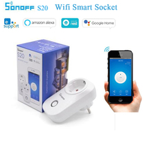 цена Sonoff S20 EU UK US Wifi Smart Socket Smart Home Remote Control Wireless Timing Socket Switch Work With Alexa Google Home