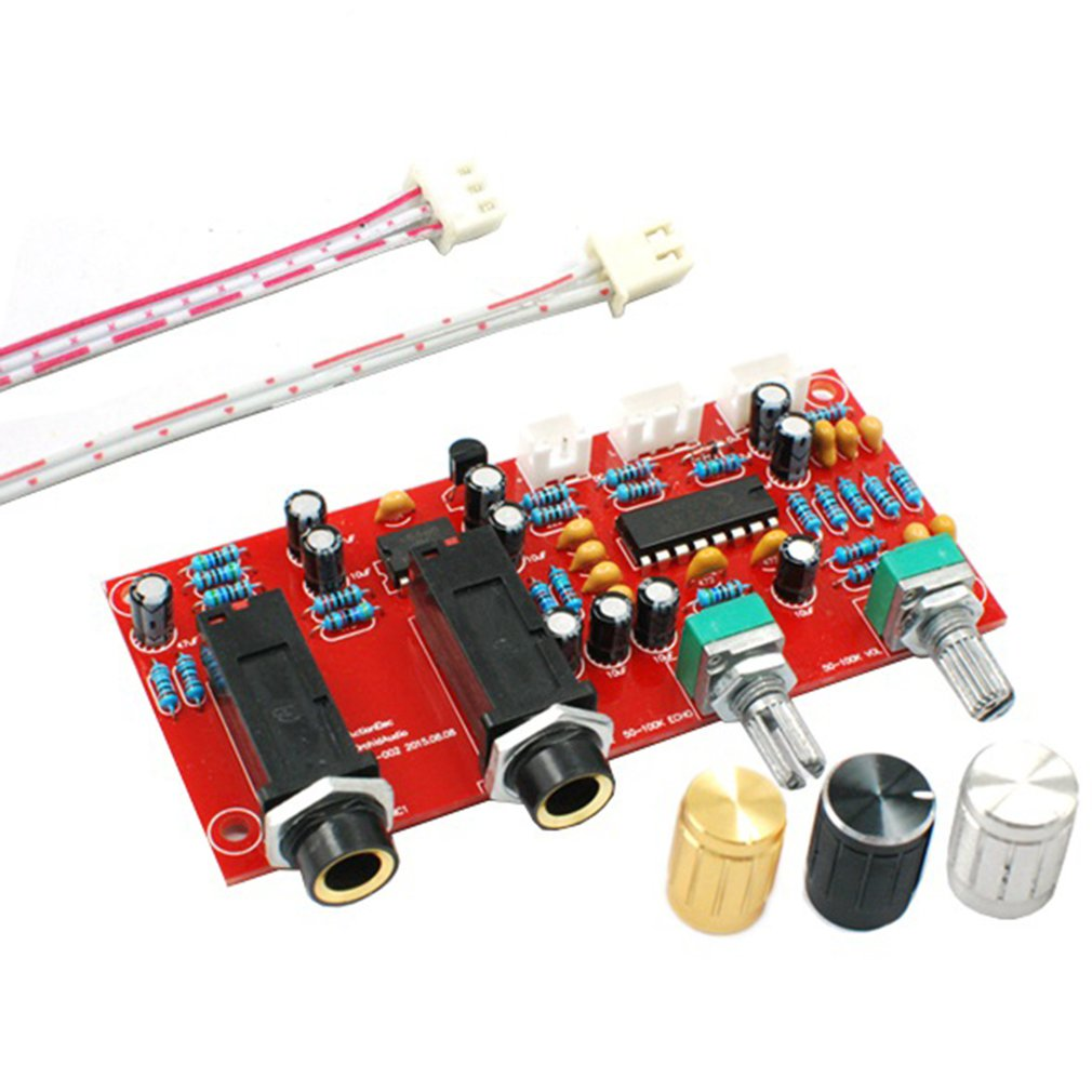 Castanets Pt2399 Ne5532 Karaoke Microphone Sound Amplifier Board Reverb Amplifier Board With Dc Front Panel 9-24v