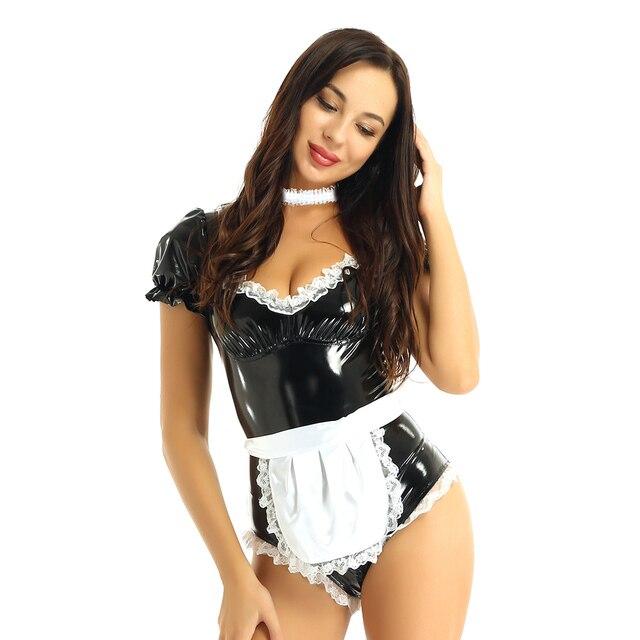 Sexy Halloween French Maid Cosplay Costume #C1528 2