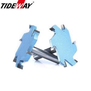 Image 5 - Tideway 1/2 Schacht 6 Fluiten Groef Steken Frees Cnc Tool Voor Hard Hout Snijders T Type Slot Houtbewerking Router bit