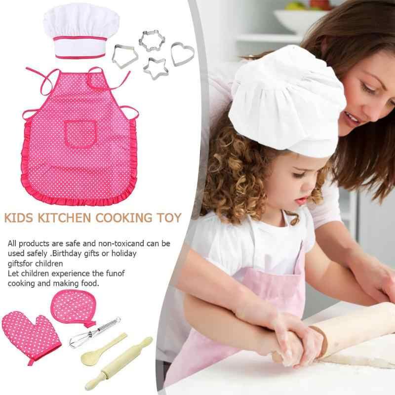 Kid Pretend Tool Cooking Gardening Kit Kid Eggbeater Cake Molds Chef Costume Toy