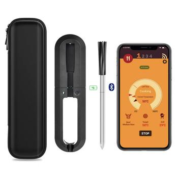 Meat Thermometer Wireless Digital Kitchen Cooking Oven Grill Smoker BBQ Accessories Bluetooth Connect Thermometer waterproof digital probe food cooking timer kitchen bbq oven grill meat thermometer tool for bbq smoker grilling kitchen accessories