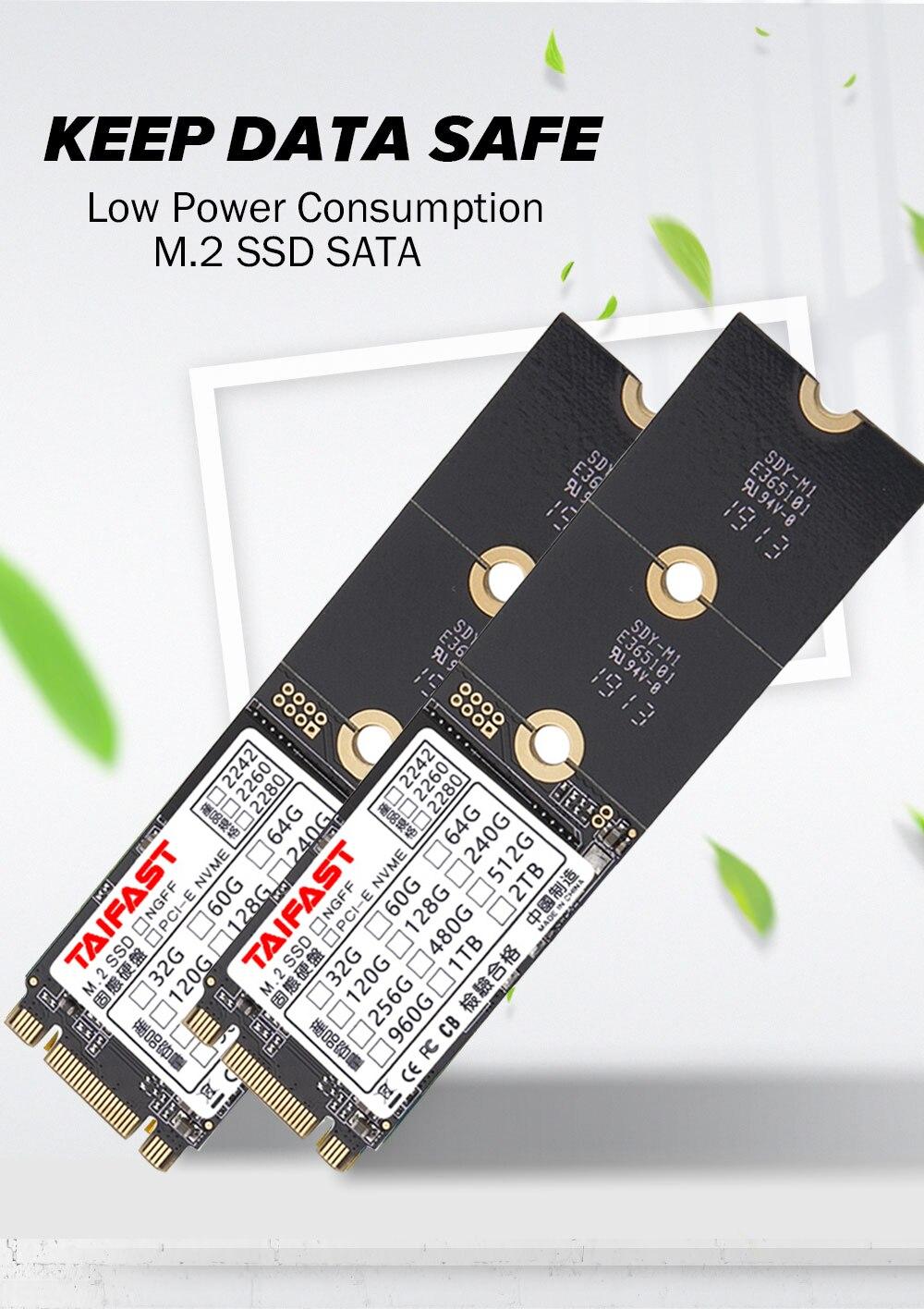 Taifast m.2 ngff sata3 SSD for laptop desktop hard disk 2242 2280 Computer Accessories 64gb 120gb 240gb 256gb 512gb 1tb ssd 4