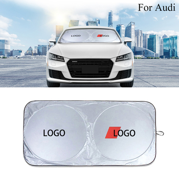 Car Sunshade Front Window Sun Shade windshield cover visor blind block protector for Audi A3 A4 S4 A5 A6 A7 A8 Q2 Q3 Q5 Q7 TT new arrival 2pcs 22 universal front window windshield wiper blade for audi a4 s4 a6 c6