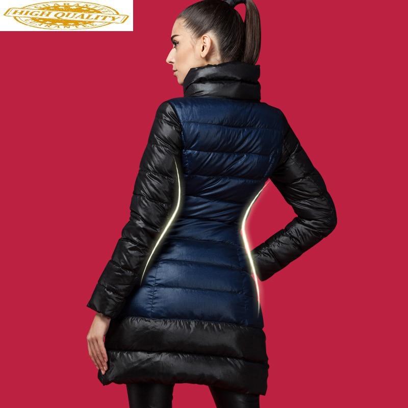 Women's Down Jacket Winter Long White Duck Down Coat Korean Womens Down Jackets Brands Warm Doudoune Femme Hiver N6606 KJ2738