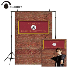 Allenjoy photographic backgrounds photophone brick wall magic school 9 and 3/4 kings cross station platform children backdrop