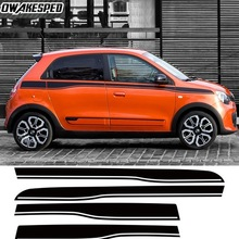 Racing Sport Stripes Car Waist Lines Sticker For-Renault Twingo 3-5 doors Car Accessories Auto Body Decor Sticker