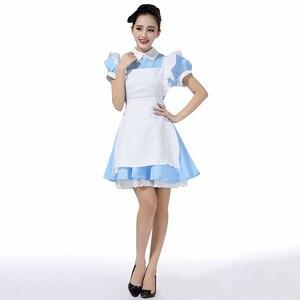 Image 2 - למעלה למכור אליס בארץ הפלאות Cosplay תלבושות לוליטה שמלת עוזרת סינר שמלת פנטזיה קרנבל ליל כל הקדושים תלבושות עבור נשים