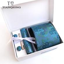 TIAN QIONG Luxury Ties for Men Paisley Silk Jacquard Woven