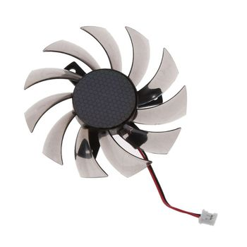 PowerLogic 75MM PLD08010S12H 2Pin 3Pin Cooler Fan For NVIDIA GeForce GTX 560 460 Ti R7 260x R270X MSI 560 Ti Graphics Video Card image