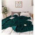 Одеяло s для кроватей однотонное желто-зеленое мягкое теплое фланелевое одеяло на кровать толстое одеяло