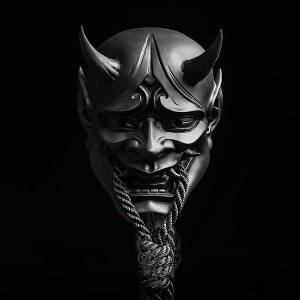 Латексная Маска GAMPORL, японская маска Prajna на все лицо, страшная маска для косплея, реквизит для Хэллоуина, буддизм, Ханья, маскарадный шлем, ак...