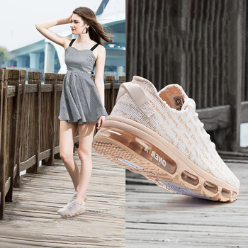 ONEMIX Air Cushion Running Shoes Women Breathable Runner Lightweight Knit Mesh Vamp Sneakers Walking Shoes Tennis Shoes Women onemix running shoes for women sports shoes sneakers damping air 270 cushion breathable knit mesh vamp for outdoor walking shoes