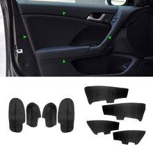 For Honda Accord 2009 4pcs Microfiber Leather Car Interior Door Armrest / Doors Panel Cover Replacement Trim