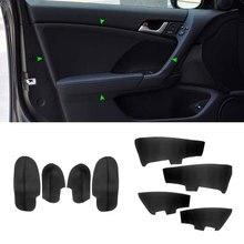 สำหรับHonda Accord 2009 4Pcsไมโครไฟเบอร์ภายในรถยนต์ที่เท้าแขนประตู/ประตูแผงเปลี่ยนTrim