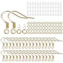 100pcs Ear Hook Set 925 Silver Plated DIY Jewelry Making UV Epoxy Resin Glue Handmade Accessories Gold Silver Silver Earrings