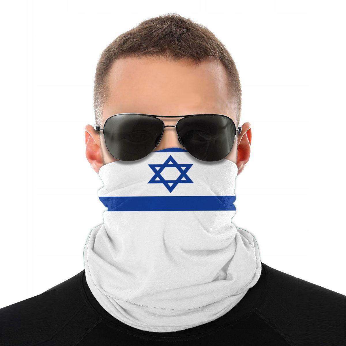 Israel Flag Scarves Neck Face Mask Unisex Halloween Neck Warmer Seamless Bandana Versatility Headband Outdoor Hiking
