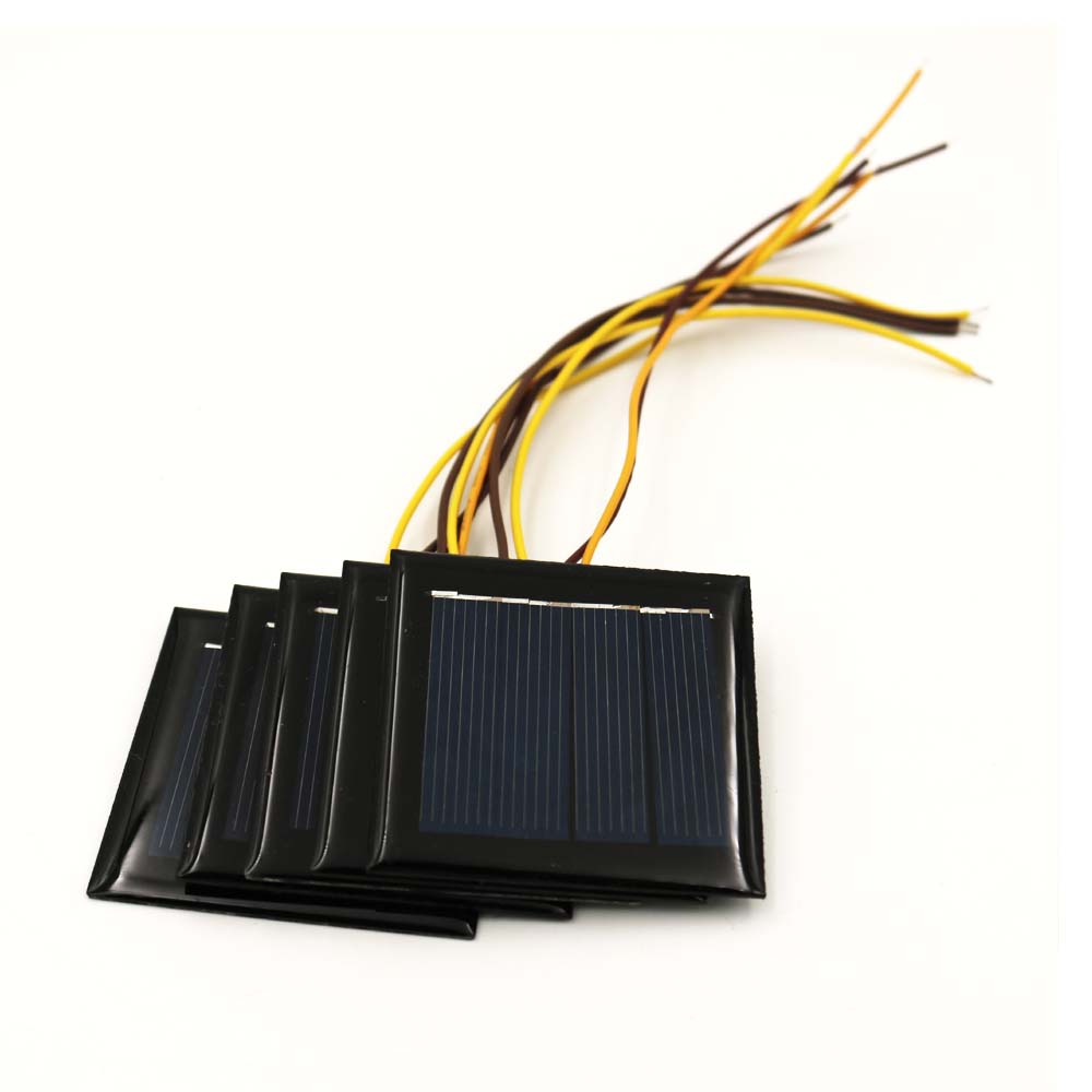 5pcs X 2V 100mA With 15cm Extend  Cable Solar Panel Polycrystalline Silicon DIY Battery Charger Module Mini Solar Cell Wire Toy