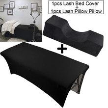 Lash Pillow Headrest Neck Support Eyelash Pillow And Eyelash Extension Elastic Sheet Bed Cover Makeup Salon Grafting Lash Salon