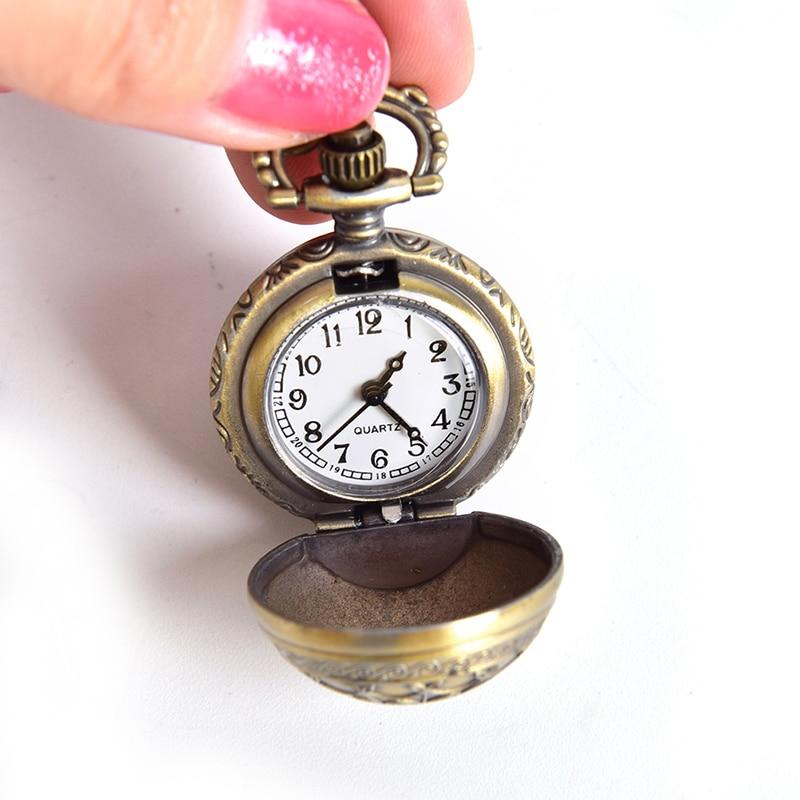 1pcs New Antique Vintage Spider Web Ball Wing Necklace Pendant Quartz Pocket Watch Gift