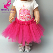 doll dress for43cm baby dolls clothes for 18inch lace cake birthday gift