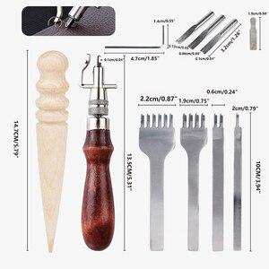 11PCS Leder Nähen Werkzeuge DIY Carving Arbeits Nähen Handwerk Kit Leder Zubehör Für Anfänger Leder Handwerk Werkzeuge Liefert