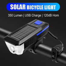 Multi-function Bicycle Light Horn Bell USB Rechargeable Sola