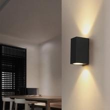 3 Вт/6 Вт светодиодный алюминиевый настенный светильник для крыльца, настенный светильник, квадратный Открытый водонепроницаемый настенный светильник, садовый светильник, современный настенный светильник s BL22