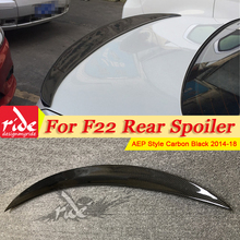 F22 M2 Carbon Fiber Auto Rear Spoiler Trunk Boot Lip Wing P Style Fits For BMW 2-Series 220i 235i 228i 230i Spoiler Wing 2014-18 f22 f20 tail rear trunk spoiler lip wing ride style carbon fiber for bmw f22 220i 228i 230i 235i rear trunk spoiler lip wing 14