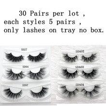 Mikiwi 30คู่ต่อแพ็คขายส่ง3D Mink Eyelashesเท่านั้นถาดไม่มีกล่องMink Lashesปริมาณแต่ละDramatic Lashes