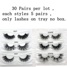 Mikiwi 30Pairs Per Pack Wholesale 3D Mink Eyelashes Only Tray No Box Mink Lashes Volume Individual Dramatic Lashes